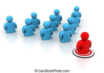 チーム, リーダーシップ, 概念, リーダー