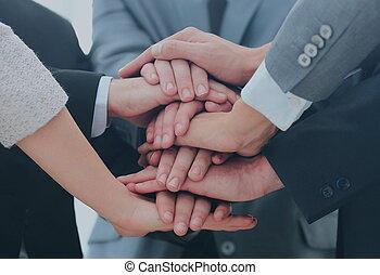 チーム, 参加する, ビジネス, 一緒に, 手