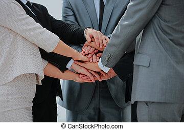 チーム, 参加する, 一緒に。, ビジネスの手