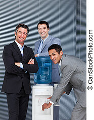 チーム, 多民族, ビジネス, 冷却器, 水