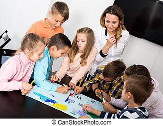 チーム, 子供, 図画, 基本的な 年齢