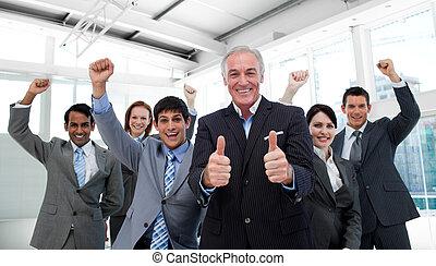 チーム, 成功した, ビジネス, インターナショナル, ミーティング