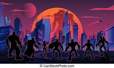 チーム, 未来派, 極度, 都市