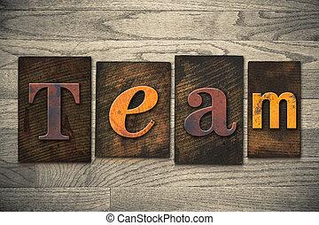 チーム, 概念, 木製である, 凸版印刷, タイプ