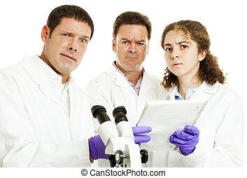 チーム, 科学者, 困らせられた