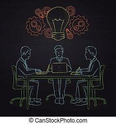 チーム, brainstorming., ビジネス
