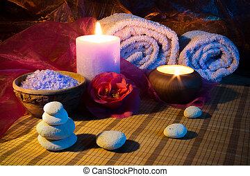 ツバキ, 蝋燭, タオル, 2, 石