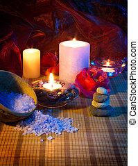 ツバキ, 蝋燭, 4, 石