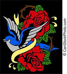 ツバメ, そして, 鳥, 種族, 紋章