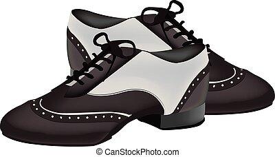 ツートンカラーである, 靴, ダンス