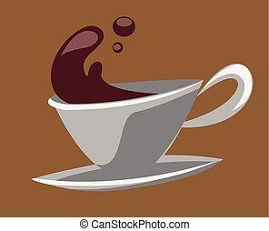 ティーカップ, コーヒー