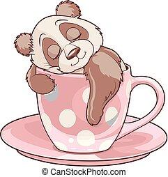 ティーカップ, パンダ, 睡眠