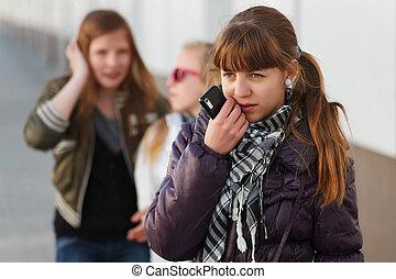 ティーンエージャーの少女, ∥で∥, a, 移動式 電話