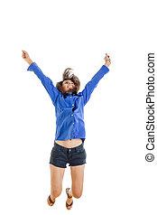 ティーンエージャーの, 女, 彼女, 成功した, 女の子, succ, 純粋, 微笑, ∥あるいは∥, 幸せ