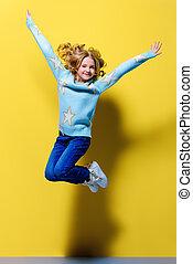 ティーン前, 女の子, 跳躍