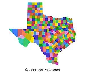 テキサスの地図