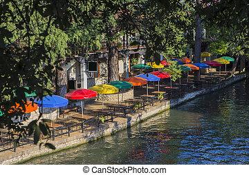 テキサス, 川, san, 歩きなさい, antonio