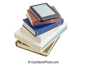 テキスト, ぼんやりさせられた, 本, 印刷される, e-reader, 山