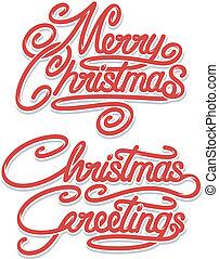 テキスト, クリスマス, 陽気, calligraphic