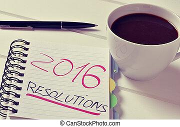 テキスト, コーヒー, 2016, メモ用紙, resolutions