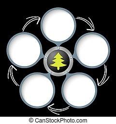 テキスト, シンボル, 矢, 木, 箱, 5, 緑