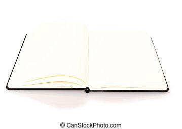 テキスト, ノート, あなたの, スペース