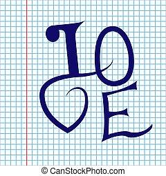 テキスト, バレンタイン, ベクトル, writing-book, 日, 愛, 手紙, 背景, 学校
