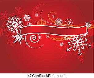 テキスト, ベクトル, 旗, クリスマス