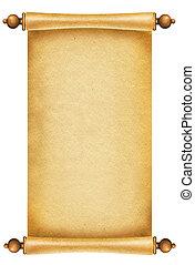 テキスト, ペーパー, 古い骨董品, 背景, スクロール, texture., 白
