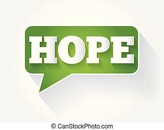 テキスト メッセージ, 泡, 希望