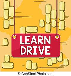 テキスト, モーター, 利益, drive., 車, 空, 単語, 運転, ∥あるいは∥, 背景, ひも, 長方形, 概念, ビジネス, 知識, surface., 技能, 色, 付けられる, パネル, 板, 執筆, 学びなさい, 板