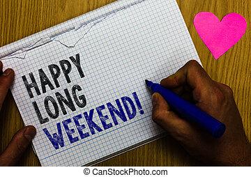 テキスト, 休暇, 記録, 意味, 概念, 愛, weekend., ペーパー, 長い間, 希望, ペン, テーブル, 誰か, 幸せ, バックグラウンド。, multiline, 心, 休日, 手書き, 旅行
