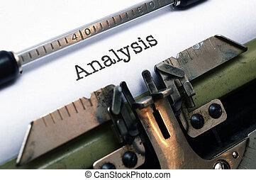 テキスト, 分析, タイプライター