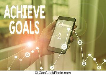 テキスト, 効果的である, succeed., 手書き, 目的を達しなさい, リーチ, 概念, 結果, ターゲット, 執筆, oriented, 計画, 意味, goals.