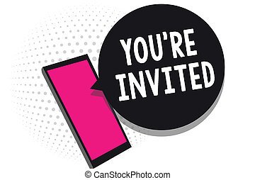 テキスト, 印, 私達の, invited., ゲスト, どうか, 細胞, レ, 写真, 概念, あなた, 受け取ること, チャット, ありなさい, 情報, 提示, 歓迎, 電話, 使うこと, 祝福, 参加しなさい, メッセージ, 私達, applications.