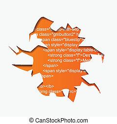 テキスト, 抽象的, ベクトル, プログラム, 穴