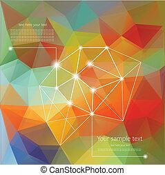テキスト, 抽象的, 場所, レトロ, 背景, 幾何学的, あなたの