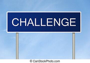 テキスト, 挑戦, 道 印
