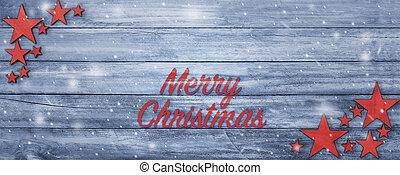 テキスト, 挨拶, 木, テーブル, 旗, クリスマス