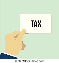 テキスト, 提示, ペーパー, 税の人