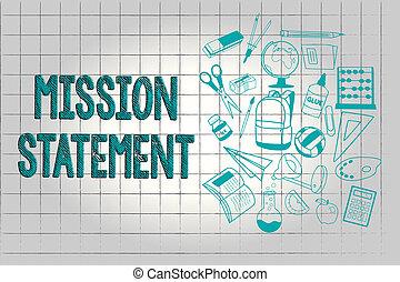 テキスト, 提示, 代表団, 目標, 印, 価値, 写真, 概念, statement., サマリー, 会社, 形式的