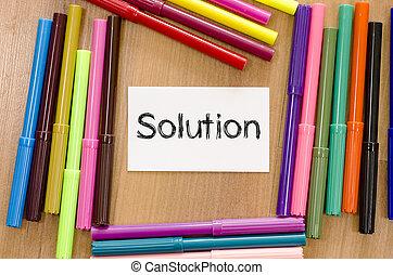 テキスト, 概念, 解決
