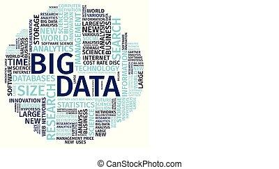 テキスト, 構成, 単語, 雲, 大きい, データ, ベクトル, イラスト, .