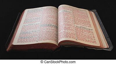 テキスト, 聖書, 古い, 赤