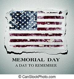 テキスト, 記念, アメリカの旗, 日