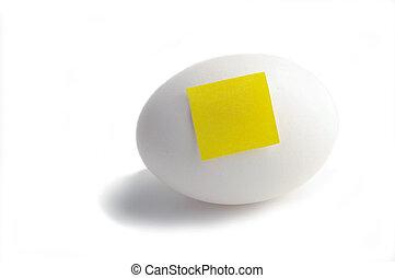 テキスト, 黄色のノート, ペーパー, ブランク, 卵