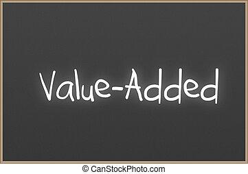 テキスト, 黒板, value-added