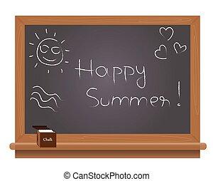 テキスト, 黒, 幸せ, 夏, 学校