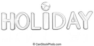 """テキスト, 3D, カラフルである,  """"holiday"""""""