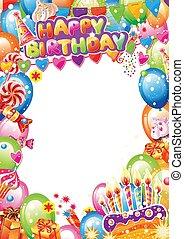 テキスト, birthday, 場所カード